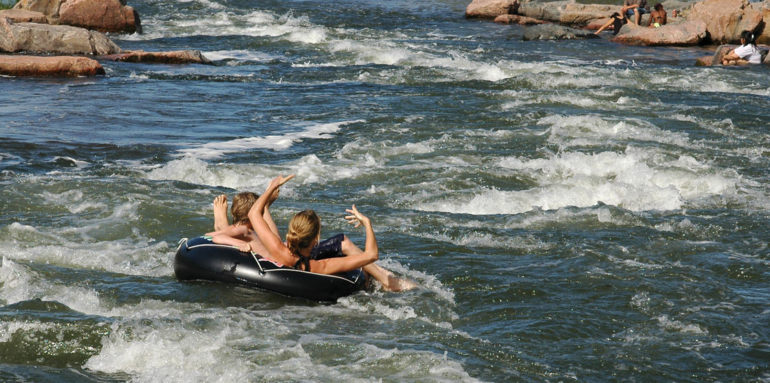 Tubing on the James River