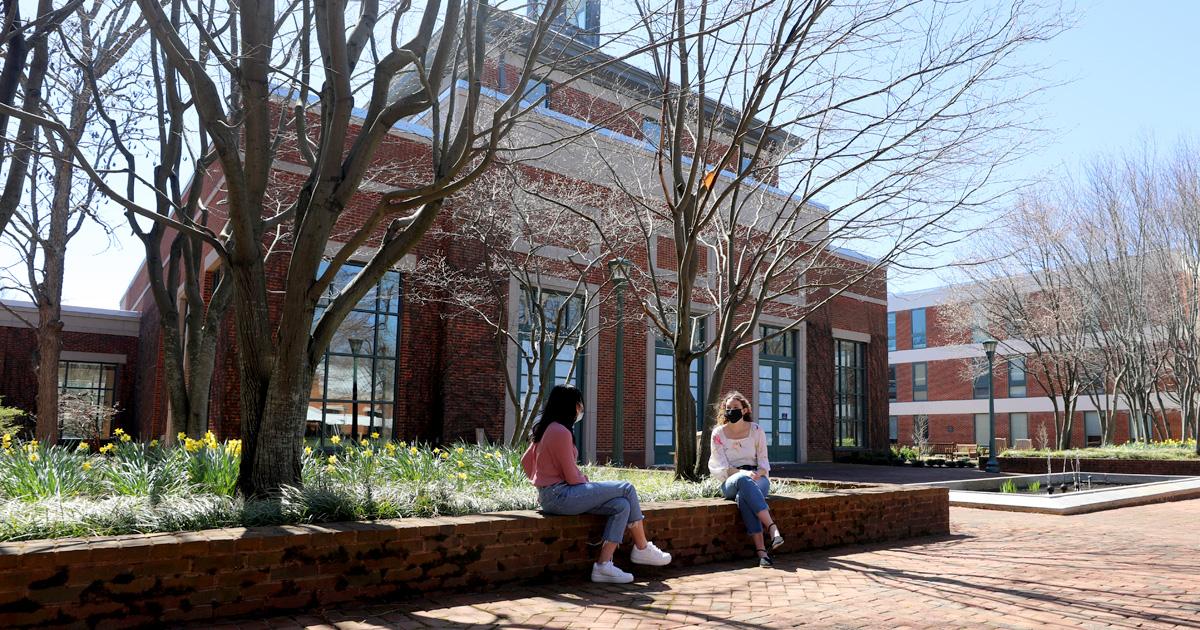 Students in Spies Garden