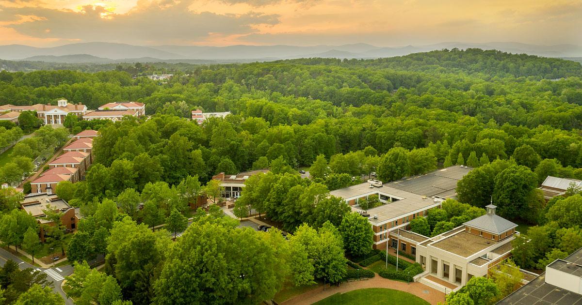 UVA Law School aerial