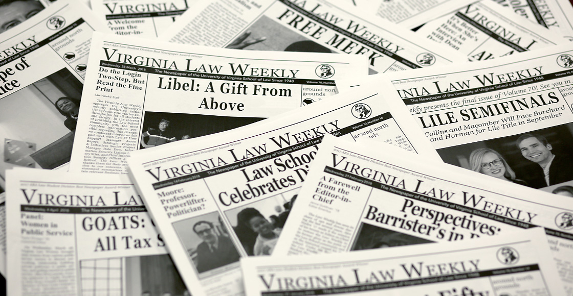 Virginia Law Weekly papers