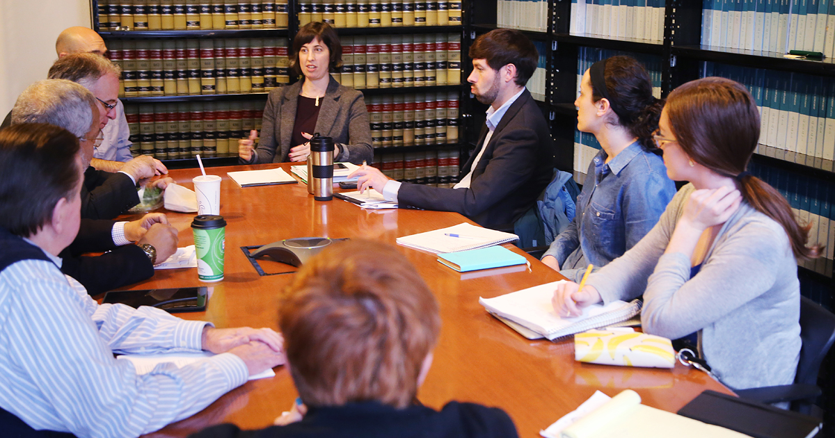 UVA Law team of alumni, faculty and students