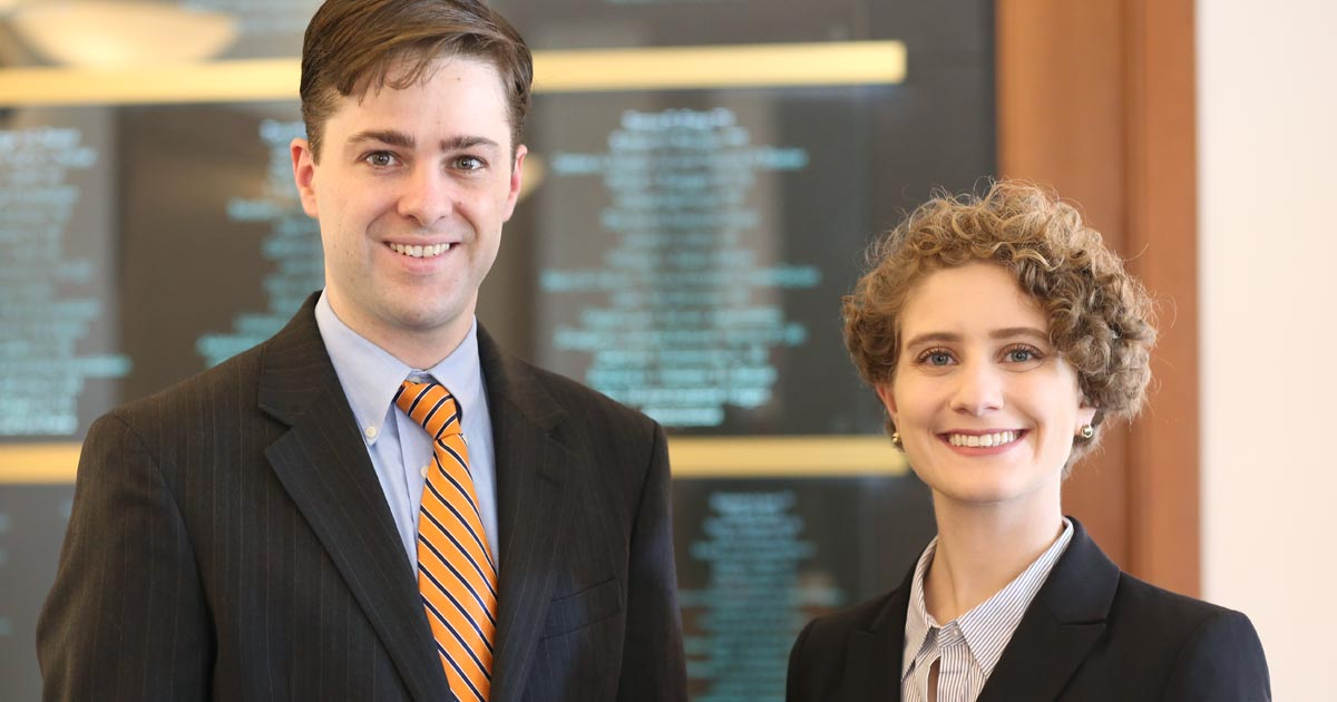 Jennifer Davidson '18 and Jay Swanson '18