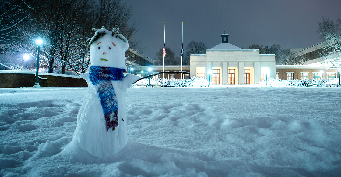 Snowman at UVA Law
