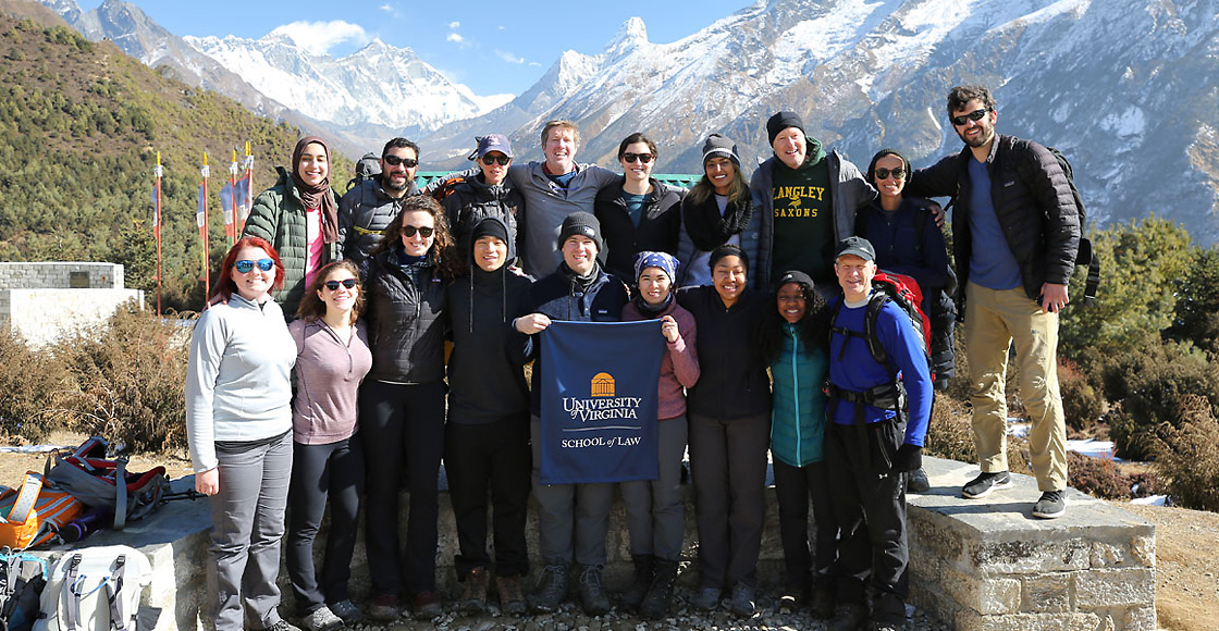 Students in the yearlong Human Rights Study Project trekked through Nepal in January.