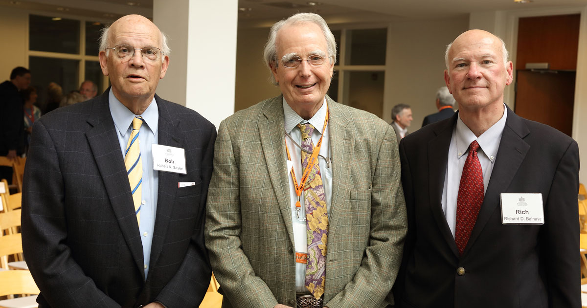Professors Bob Sayler, Tom White and Rich Balnave