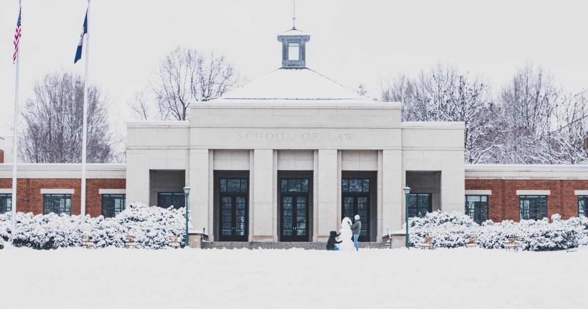 Students build snowman