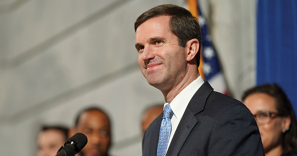 Andy Beshear '03 was interviewed by UVA Lawyer after being elected governor of Kentucky.