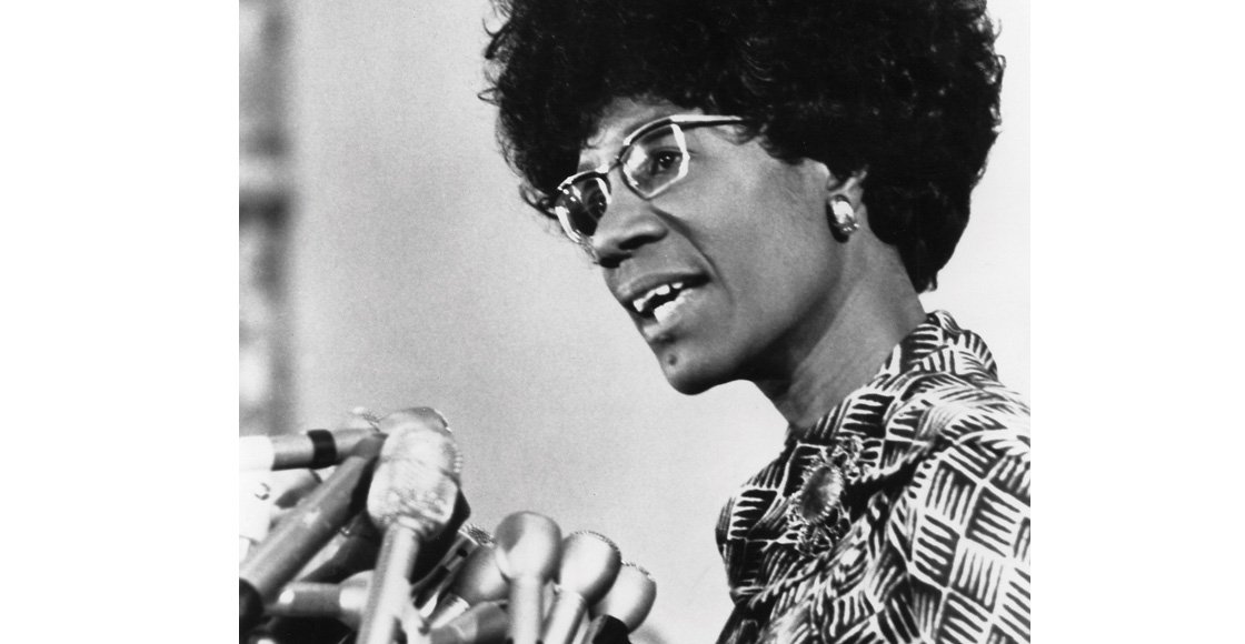 U.S. Rep. Shirley Chisholm, the first black woman elected to Congress, speaks at a Student Legal Forum event in 1973.