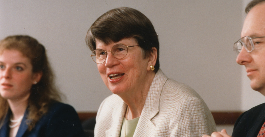 U.S. Attorney General Janet Reno speaks at the 40th anniversary celebration of the Virginia Journal of International Law in 2000.