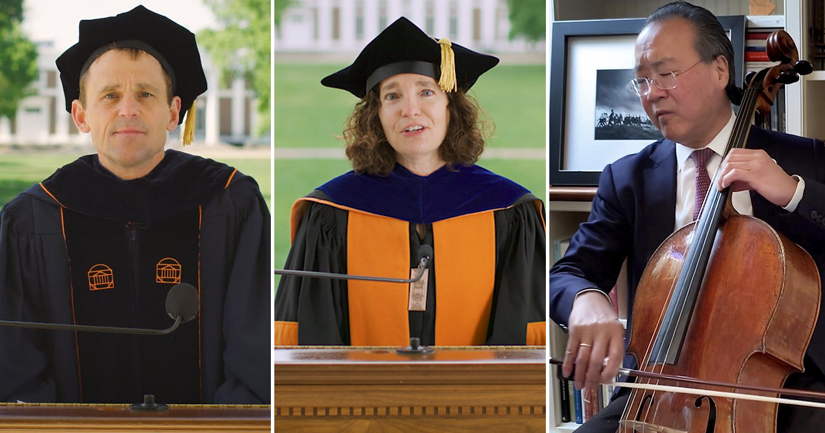A virtual celebration May 16 honored UVA graduates with musical performances, videos and an address by President Jim Ryan '92.
