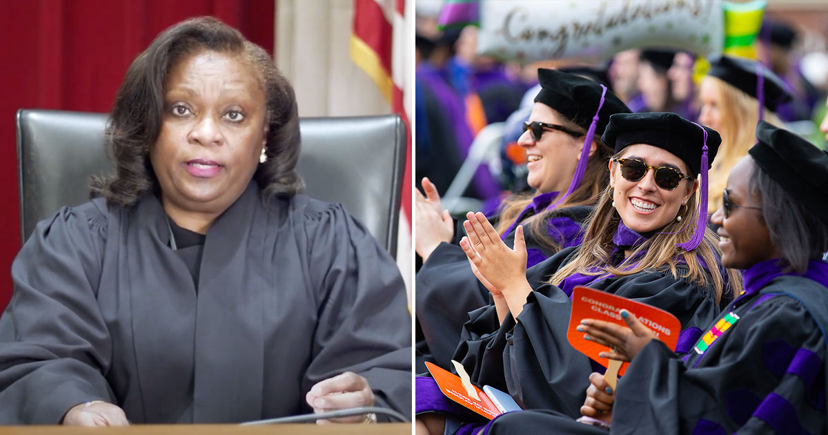 Justice Cleo Powell and graduates