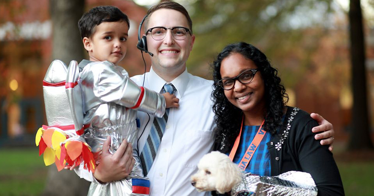 Families in the UVA Law community enjoyed the First-Year Council's annual Halloween Carnival.