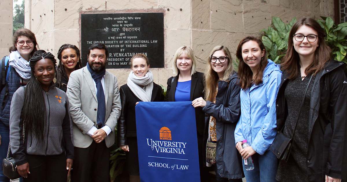 Students took their legal education worldwide. Eight students in the Human Rights Study Project, above, learned about human rights law in India. Members of the Black Law Students Association returned to Cape Town, South Africa, to aid efforts aimed at reducing violence.