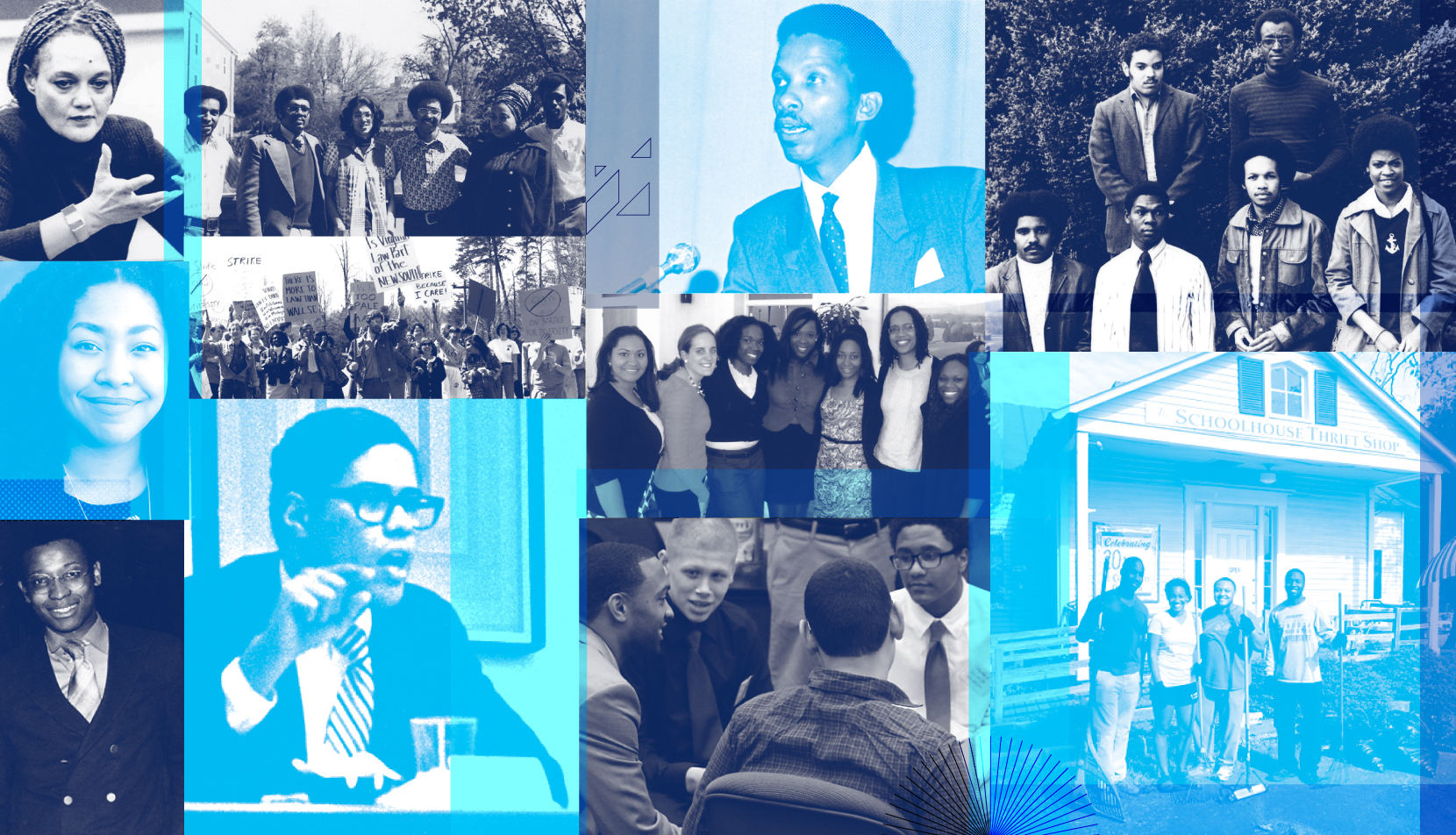 Collage of BLSA events and people