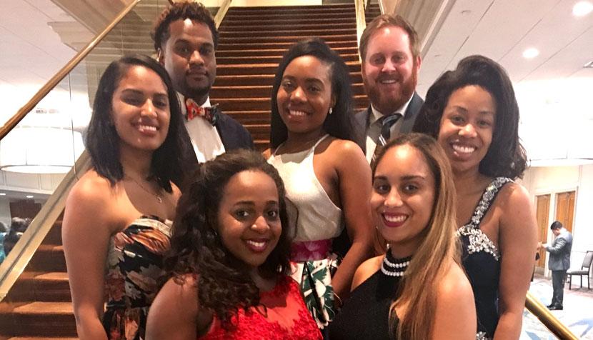 Members of UVA Law's BLSA chapter
