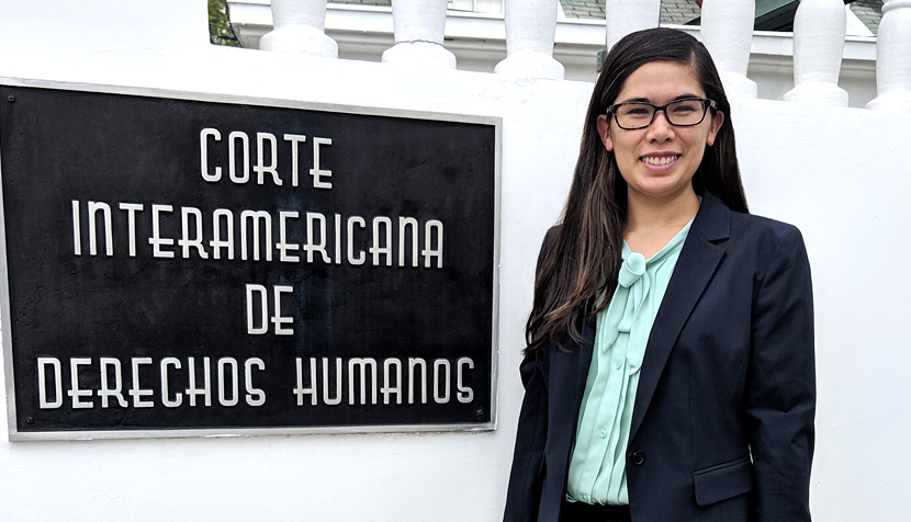 Mika Bray at the Inter-American Court of Human Rights in Costa Rica