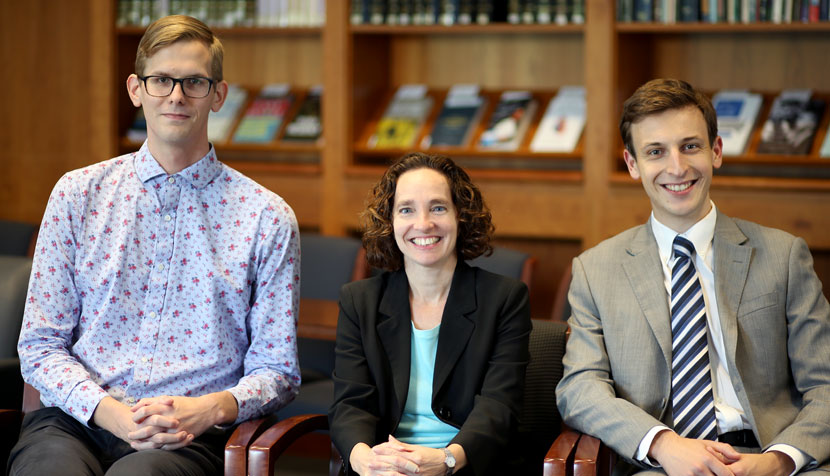 Nicholas Allen, Dean Risa Goluboff and William Hall