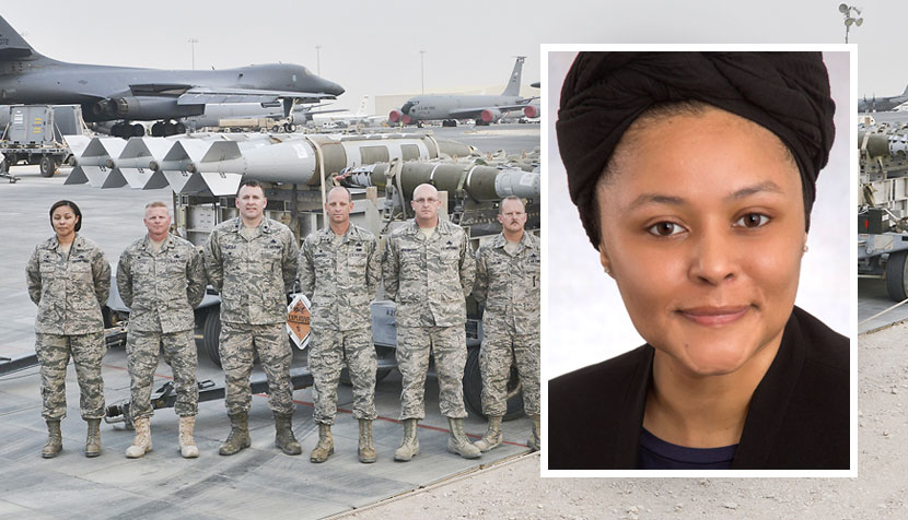 Nevah Jones and Air Force officers