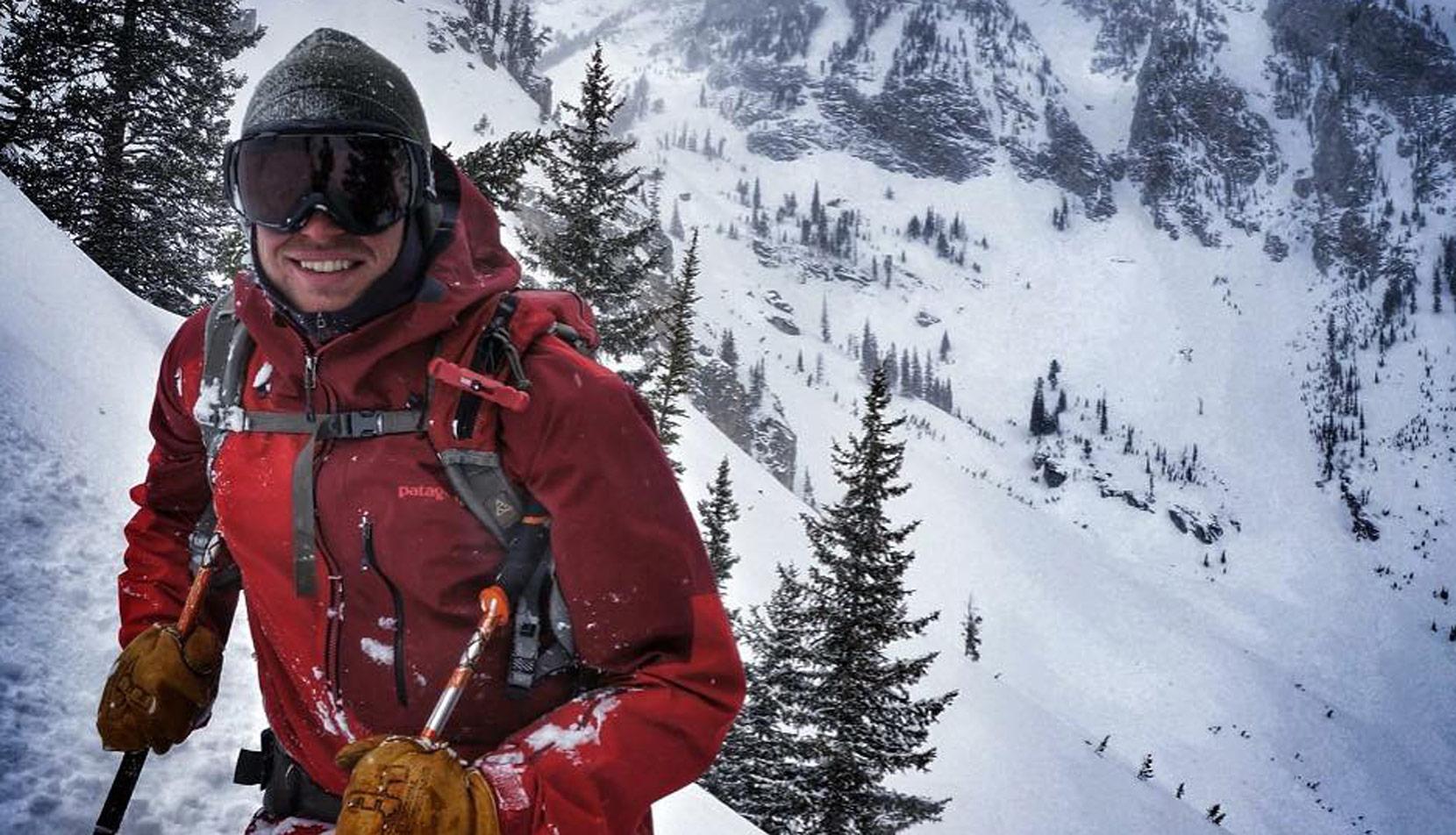 Zach Kuster skiing