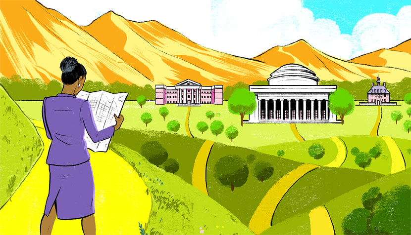 A path to higher education illustration