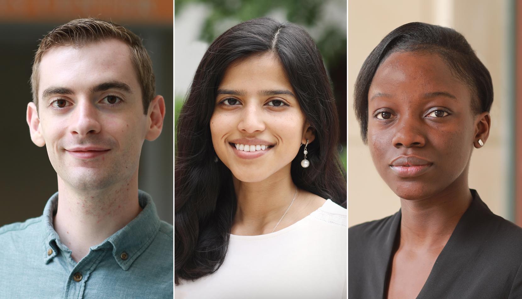 Kevin Jackson, Shweta Kumar and Doriane Steva Nguenang Tchenga