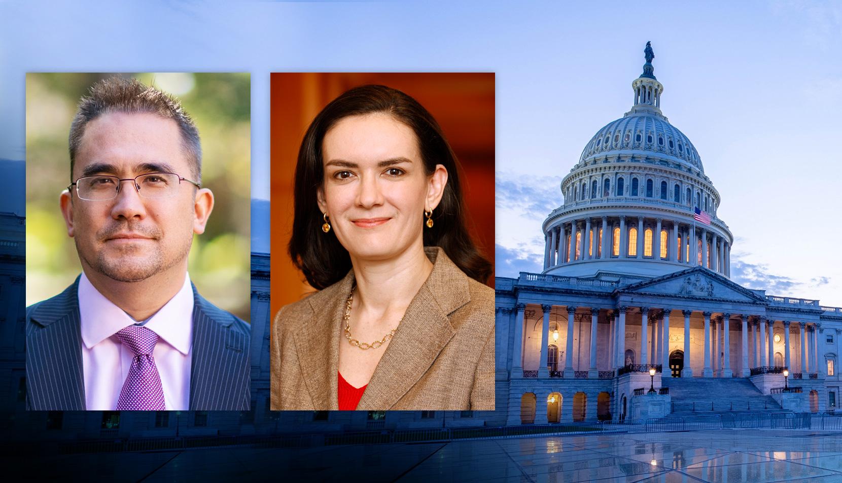 Andrew Hayashi, Ruth Mason and U.S. Capitol