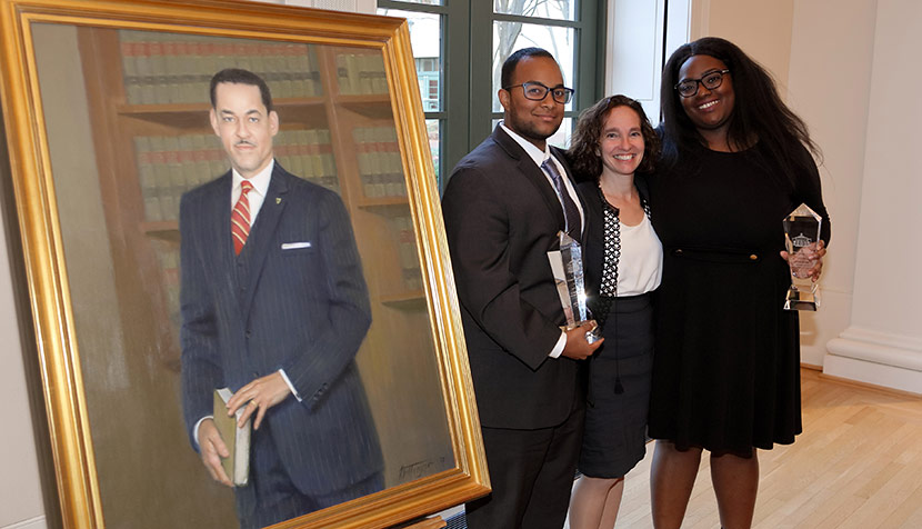 Swanson's portrait, Jah Akande, Risa Goluboff and Torraca Nelson