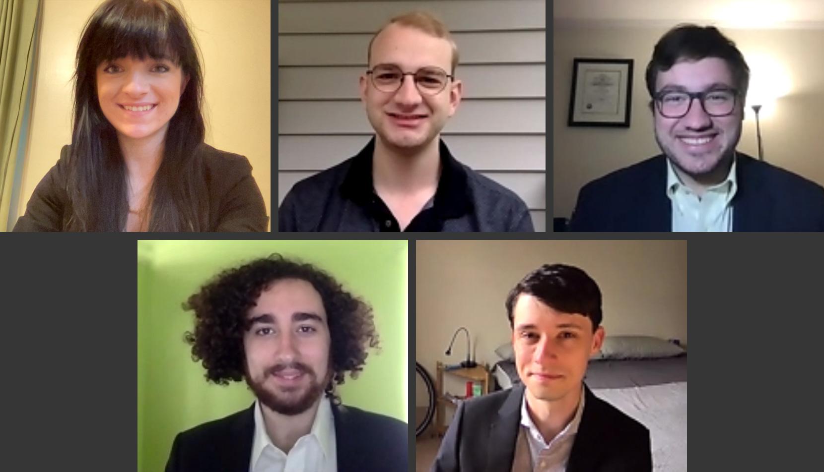 Bethany Labrinos, Zeke Rosenberg, Bolton Smith, Killian Wyatt and Ian Macdonald