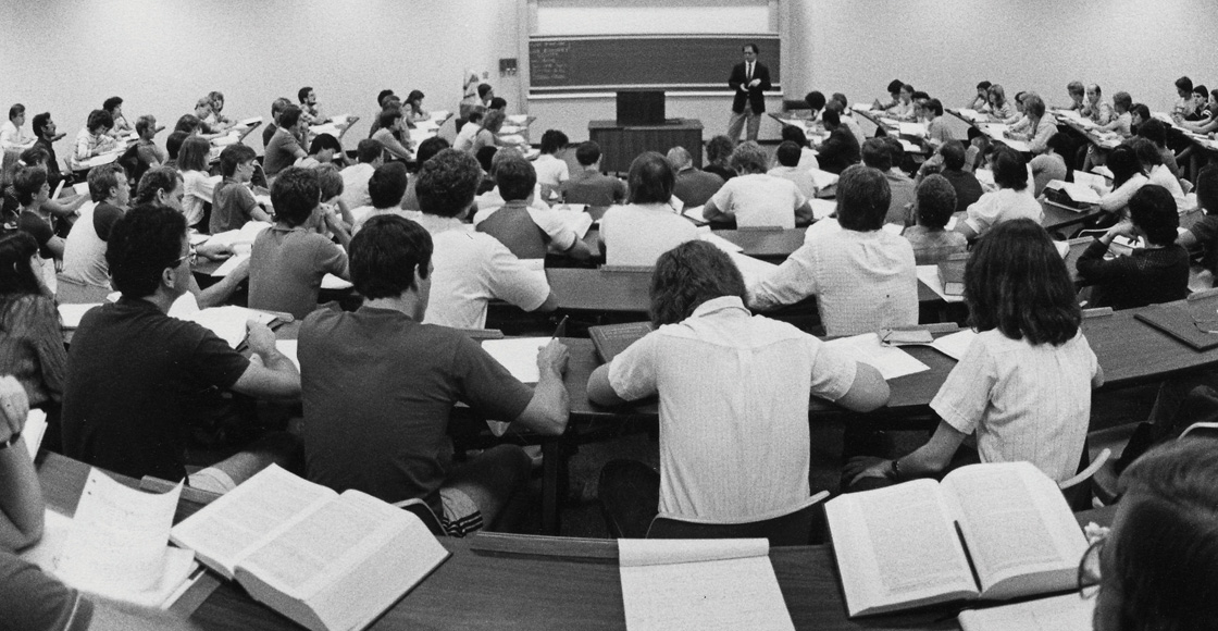 A classroom in 1983.