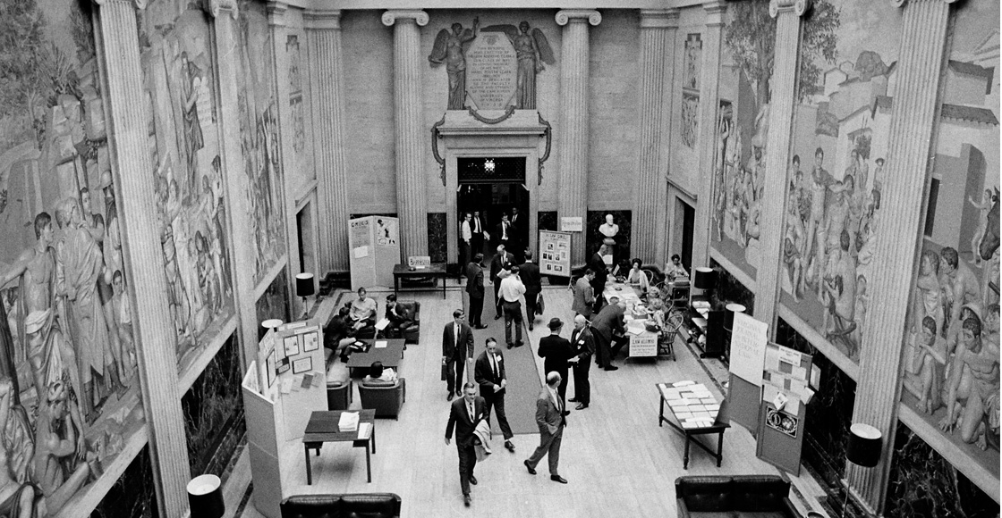 The Clark Memorial Hall entrance atrium, in an undated photo.