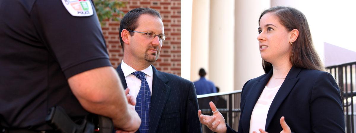 Prosecution Clinic student and Joe Platania