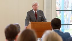 G. Edward White speaks at Board and Council luncheon