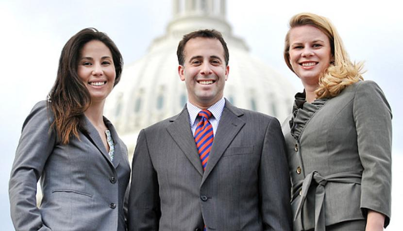 Laurel Sakai '11, Mike Buchwald '06 and Lauren Prieb '11