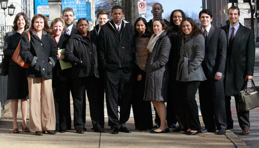 Edward Coker and legal team