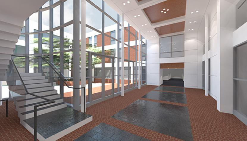 Slaughter Hall Renovation Rendering