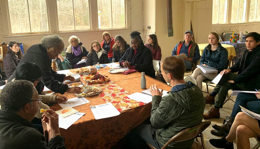 Stakeholders meet with AMMD Pine Grove Project members
