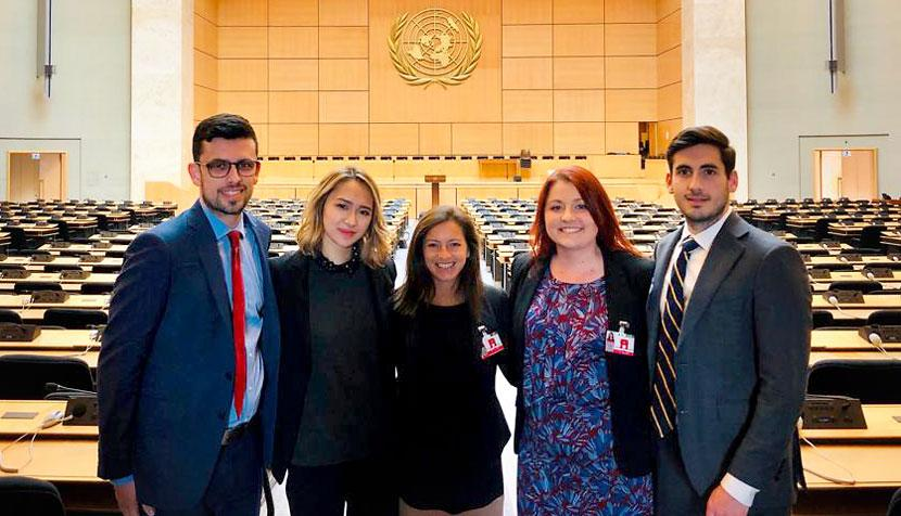 Law School students at UN in Geneva