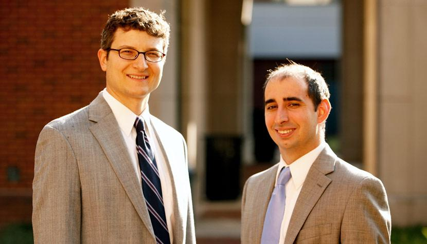 Michael Gilbert and third-year law student Benjamin Aiken