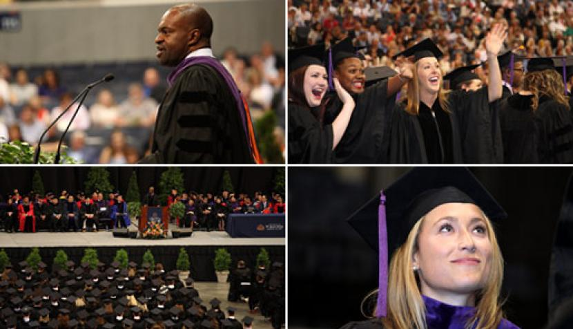 Scenes from the graduation ceremony