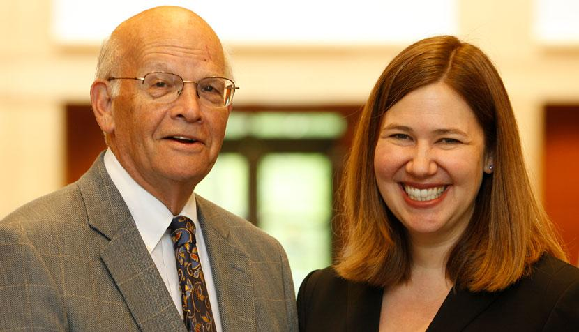 Professors Robert Sayler and Molly Shadel