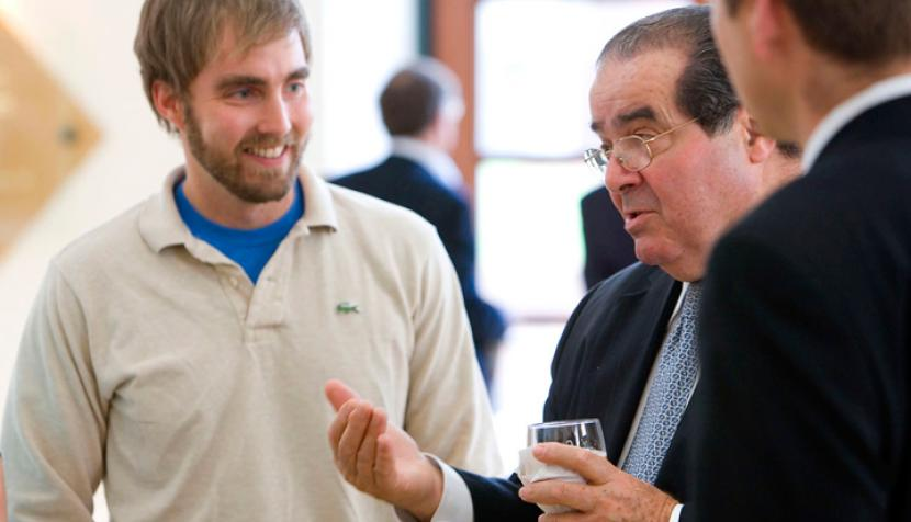 Justice Scalia and students