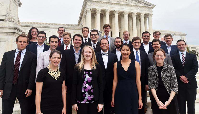 Clinic alums recently took the steps of the Supreme Court once more in celebration of the clinic's 10-year anniversary.