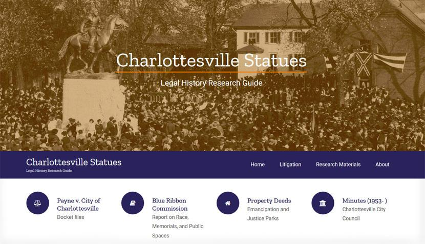 Charlottesville Statues Legal History Research Guide