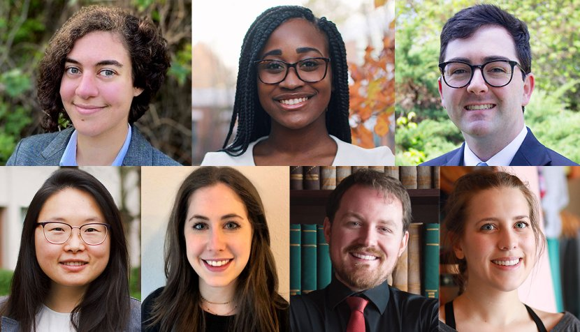 Clockwise: Judy Baho '20, Cat Guerrier '21, Wilson Miller '21, Lena Welch '20, Will Kelly '21, Jana Ruthberg '21 and Grace Tang '21