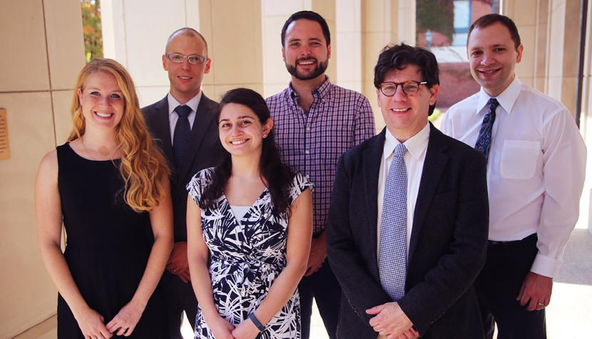 Kira Schwartz, K. Jay Galloway '15, Sharon Rogart, Michael Goudey, Dan Krasnegor and Mike Srtska
