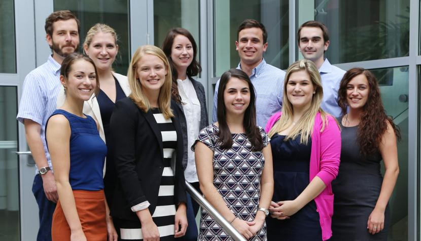 The members of the 2014-15 board are, front row: Kate Mason '15, Katie Clifford '15, Jessica Saba '16, Rachel Ashton '16, Hannah Thibideau '15; back row: Ray Szwabowski '15, Lauren Kramer '16, Jackie Ryberg '15, Mario Peia '15, John Kendrick '16.