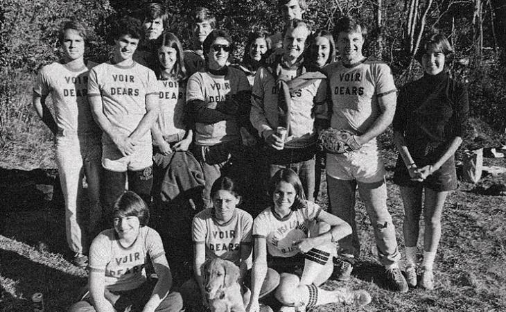 """The """"Voir Dears"""" were co-rec champs in the fall of 1978."""