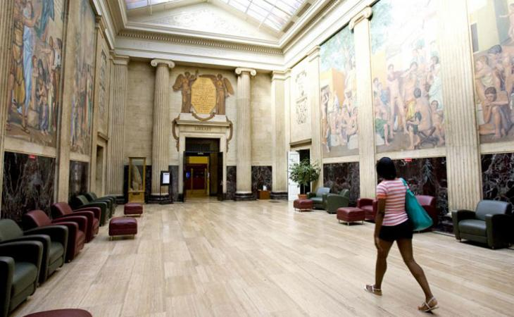 Clark Hall still houses the murals