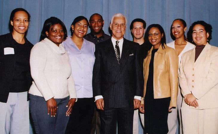 Students with L. Douglas Wilder