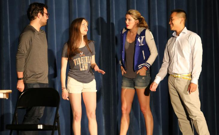 Jeremy Pushkin '19, Abbey MacDonald '19, Darcy Whelan '19 and John Dao '19